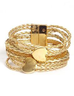 52872-pulseira dourada com coração - R$51.00