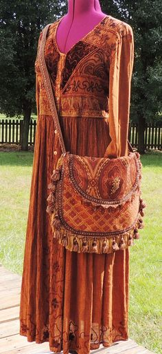 Large gypsy bag cross body bag bohemian bag by allthingsoldarenew, $150.00