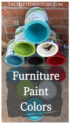 Favorite furniture paint colors from Facelift Furniture. Find color names, and use discount code ILOVEDIY to purchase our DIY eBook Facelift Your Furniture for only $6.49. No expiration!