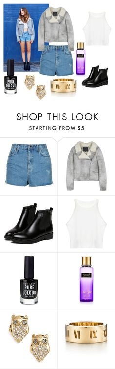 """Untitled #19"" by maya-1999s on Polyvore featuring Topshop, McQ by Alexander McQueen, Kate Spade and Tiffany & Co."