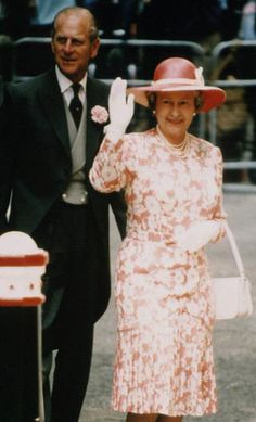 Queen Elizabeth,  July 14, 1994 | Royal Hats.....Sarah and Daniel Chatto Wedding: Royal Guest Hats....Posted on July 15, 2014 by HatQueen