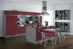 European Kitchen Cabinets - Pictures and Design Ideas Ready Made Kitchen Cabinets, Two Tone Kitchen Cabinets, European Kitchen Cabinets, Kitchen Cabinets Pictures, European Kitchens, Grey Kitchens, Kitchen Cabinet Design, Cool Kitchens, Kitchen Decor