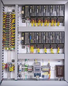 PLC Panel Electrical Panel Wiring, Electrical Projects, Electrical Installation, Electronics Projects, Arduino, Electronic Engineering, Electrical Engineering, Boat Wiring, Plc Programming