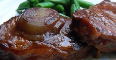 Slow Cooker BBQ Pork Chops - This is a no fuss slow cooker recipe that produces a very tender and flavorful pork chop. Crockpot Dessert Recipes, Healthy Crockpot Recipes, Cooker Recipes, Dump Recipes, Crockpot Meals, Barbecue Recipes, Dinner Recipes, Bbq Ribs, Bbq Pork