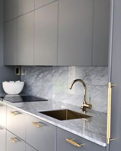 Buster + Punch is a London-born home fashion label. We work with rare, solid materials to make extraordinary items for everyday use. Grey Kitchen Designs, Kitchen Pantry Design, Luxury Kitchen Design, Kitchen Layout, Interior Design Kitchen, Kitchen Sink, Living Room Kitchen, Home Decor Kitchen, Grey Kitchens