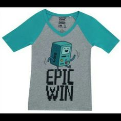 ♬ Adventure Time BMO Epic Win Shirt ♬ In like-new condition. Tops