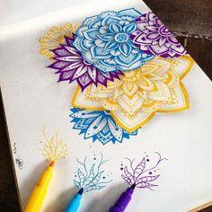 Resultado de imagen para dibujos a lapiz con mandalas