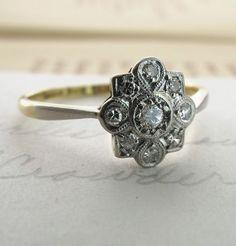 """Argent Vif"" Diamond Engagement Ring"