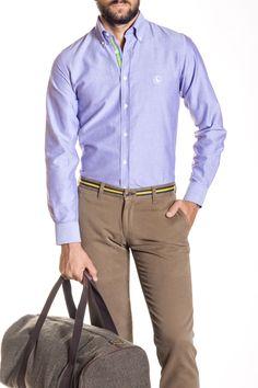 Camisa Oxford Morada