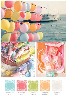 Balloon popping - http://seekingthemuse.com/mood-boards/mood-board-pretty-spring-pastels/