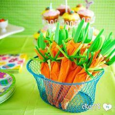Carrot napkins!