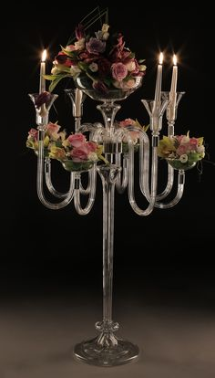 WOW factor - candleholders for wedding and events decoration. Interior design, premium handmade glassware by Gabriela Seres Candleholders, Candelabra, Event Decor, Wedding Decorations, Chandelier, Events, Ceiling Lights, Interior Design, Glass