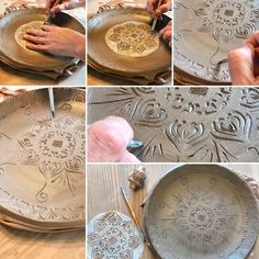Native Mandala dinner plates handmade one at a time in Vermont! 🍁🍁 Custom order the amount you need right through the Etsy shop ....options available to include salad plates, bowls, mugs and or tumblers as well! 🎁