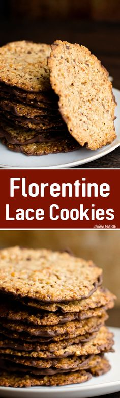 Italian Florentine Almond Lace Cookie Recipe | Ashlee Marie | Winter | Holiday | Christmas | Cookies | #holiday #holidaycookies #christmascookies #holidaytreats
