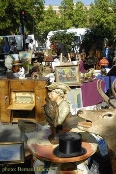 La Porte de Vanves - Parisian Flea Market. Open Saturday and Sunday mornings.