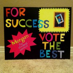 Morgans student council poster