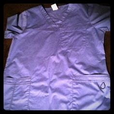 Scrub shirt Ceil blue scrub short. Worn once. Dickies Tops