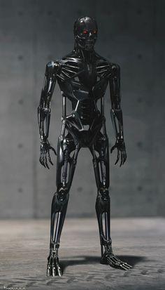 Concept Art for Tim Miller's Terminator: Dark Fate Terminator Genesis, Terminator Movies, Nemesis Prime, Man In Black, Skeleton Warrior, Arte Robot, Robots Characters, Robot Concept Art, Concept Weapons