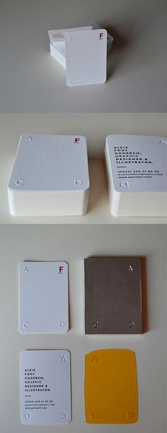 White Personal Business Cards