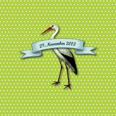 Cigogne (Grün) Wie war das jetzt mit dem Storch? Er bringt euch diese zauberhafte Geburtskarte für euer kleines Wunder… #cardswithlove