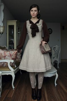 """I really do love the subtle Lolita look of this outfit.  """"Fanny Rosie & her vintage french furniture, too."""""""