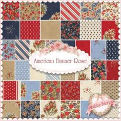 American Banner Rose by  Minick & Simpson for Moda Fabrics for my Farmer's Wife quilt.