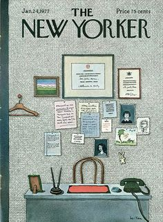 Pierre Le-Tan for The New Yorker #cover #situation #color