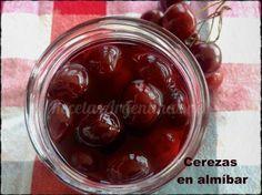 Cerezas en Almíbar para postres y repostería | RecetasArgentinas.net Preserving Food, Sin Gluten, Fruits And Vegetables, Chutney, I Love Food, Jelly, Bakery, Vegan Recipes, Cherry