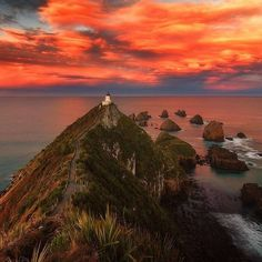 Sunset Series day 11 - Check out this taken at Nugget Point (dont you just love that name) by @thekiwicouple check them out for an awesome travel fix! . Love sunsets? Check out my latest post 10 tips to better sunset photos link in my bio and see more wonderful shots. . . . . . #iexplore #travelerrday #fantastic_earth #BBCTravel #thetravelblogsIG #bestcommunitytravel #IamATraveler #lonelyplanet #passionpassport #TLPicks #travelandlife #LiveTravelChannel #TravelDudes #MakeAnywherePossible…