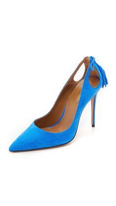 Aquazzura | Forever Marilyn Pumps in mondrian blue