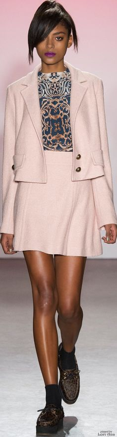Nanette Lepore Fall 2015 RTW women fashion outfit clothing style apparel @roressclothes closet ideas