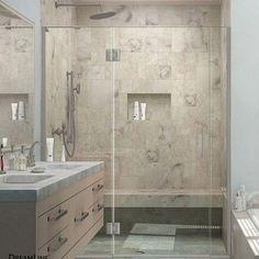 """DreamLine Unidoor-X 72"""" x 61.5"""" Hinged Shower Door Trim Finish:"""