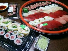Sushi dinner for a special occasion.