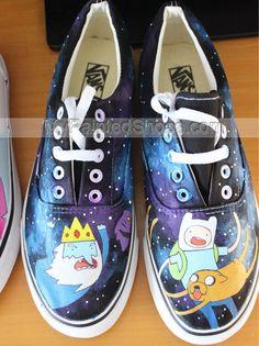 Custom Anime Vans Adventure Time Vans Painted Shoes