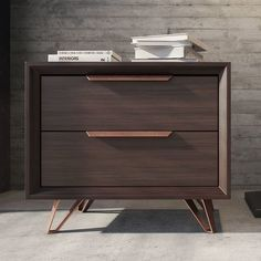 The Modloft Grand 2 Drawer Nightstand is here to attend to your every nighttime need. Two drawers and a generous surfact provide storage for bedside. Bedroom Furniture, Home Furniture, Bedroom Decor, Rustic Furniture, Antique Furniture, Furniture Layout, Furniture Stores, Cheap Furniture, Modern Furniture Design