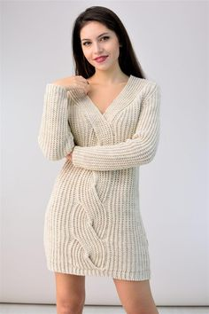 Μίνι πλεκτό φόρεμα POTRE Clothing, Sweaters, Dresses, Fashion, Outfits, Vestidos, Moda, Fashion Styles, Sweater