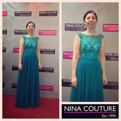 This gorgeous Hand beaded chiffon gown is now available in emerald green and royal-blue. Size We recommend this gown for our modest customers shopping for mother of the bride and groom. Beaded Chiffon, Chiffon Gown, Teal, Purple, Pink, Emerald Blue, Bridesmaid Ideas, Mother Of The Bride, Royal Blue