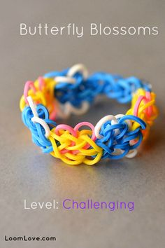 How to make a Butterfly Blossoms Rainbow Loom Bracelet #rainbowloom