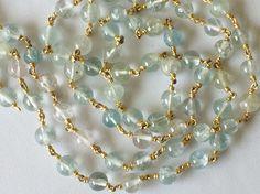 Multi Aquamarine Plain Round Balls Beads in 925 by gemsforjewels