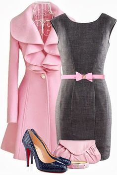 Pink and Gray! Awesome together.
