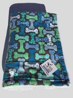 Dog Bone Blanket, Pet Throw, Dog Bed, Toddler Nap Blanket, Stroller Blanket, Flannel Baby Blanket, Puppy Bedding, Car Seat Cover, Dog Bones #DogBlanket #DogBed #PuppyBedding #DogBoneBlanket #PetThrow #PetBlanket #StrollerBlanket #DogThrow #BluePetThrow #NurseryDecor