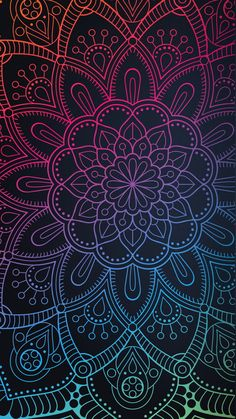 Mandala Wallpaper, Phone Wallpaper Boho, Phone Wallpaper Images, Love Wallpaper, Cellphone Wallpaper, Colorful Wallpaper, Wallpaper Backgrounds, Wallpaper Quotes, Mandala Doodle