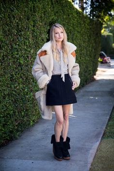 The coolest way to style a plush shearling for fall @coach #spotlight