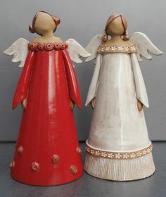 ceramic angels by Martina Otto