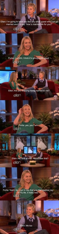 I love Ellen. How cute.>>Ellen=My favorite Lesbian Nate King Cole, Couple Goals Tumblr, Love Your Life, My Love, Ellen And Portia, Couple Goals Cuddling, Be My Hero, Lgbt Memes, Lgbt Love