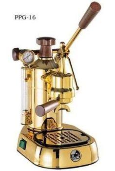 TotallySwag La Pavoni PPG-16 Professional 16-Cup Espresso Machine (Brass)