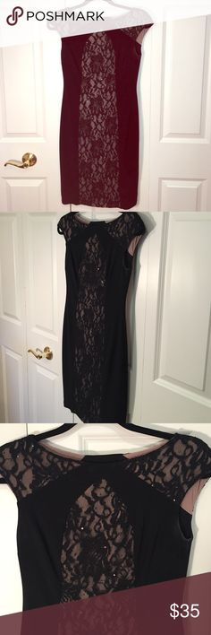 Stunning Dress This dress is simply to die for! It will turn heads like no other. Beautiful black lace, makes it elegant yet sexy. Brand new condition. It says size 0 but fits more of an XS-S. If you are a Small- it will fit best if you are smaller in the chest. I'm a small but it is a little tight around the armpit area. Make an offer! Ralph Lauren Dresses