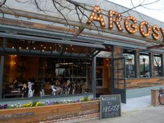 Argosy in East Atlanta Village is a stunning landmark that delivers great food in a chic industrial hangar. Come-as-you-are easy, this place is full of design details you wouldn't expect.