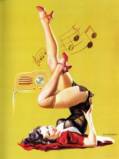 pin up girl poses | Typically we see pin up models as beautiful young women in skimpy ...