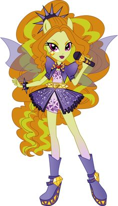 Rainbow Rocks Adagio Dazzle Vector by icantunloveyou on deviantART